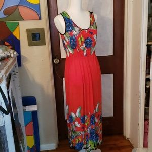 2/$25 Red Maxi Summer Dress w/ Butterflies